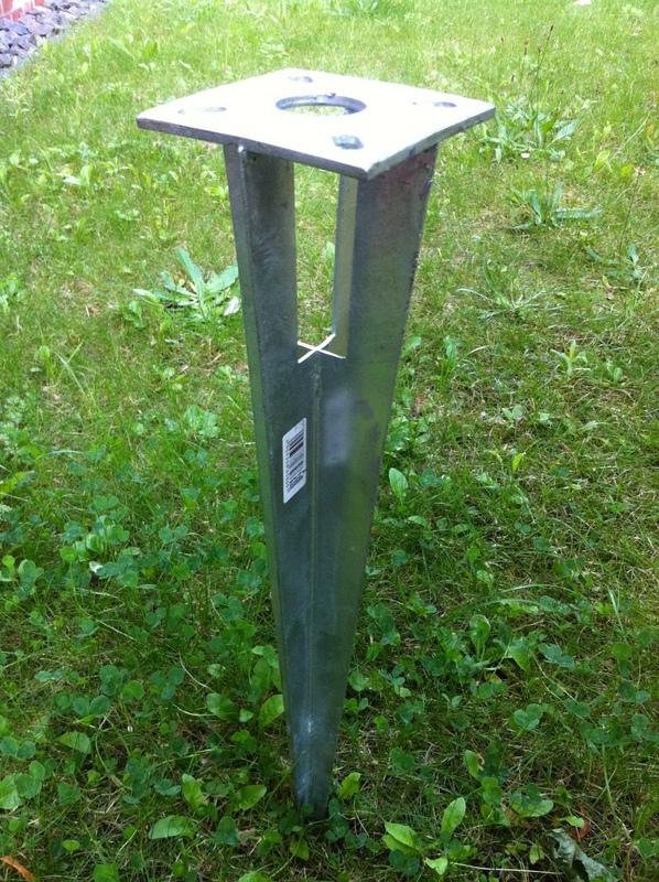 Einschlaghulse Fur Zaunpfosten 34mm Maschendrahtzaun Kein